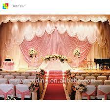 Church Backdrops Ida Wedding Church Backdrop Decorations Stage Draperies Buy