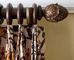 Design Ideas For Heavy Duty Curtain Rods Kirsch Decorative Wood Drapery Hardware Poles For Wooden Curtain