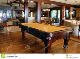pool table in the living room royalty free stock photography