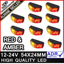 led side marker lights for trucks 10x led clearance lights side marker l red amber trailer truck 12