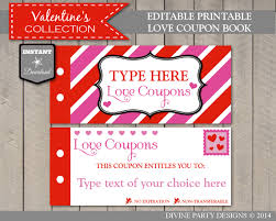 sale instant download editable printable love coupon book