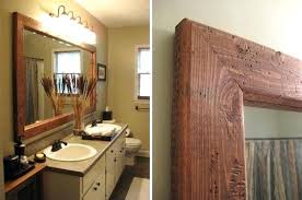 framing bathroom mirror ideas wood framed bathroom mirrors safetylightapp regarding wooden