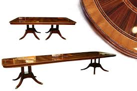 large oval mahogany double pedestal dining room table with extra large dining table american made high end