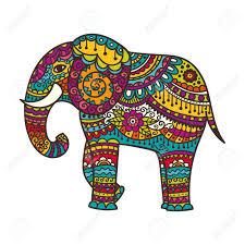 decorative elephant illustration indian theme with ornaments