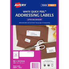 avery address labels white 50 sheets 33 per page officeworks