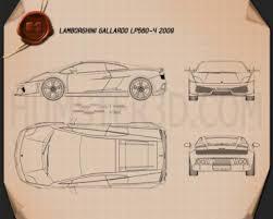 lamborghini gallardo blueprint lamborghini blueprint 3d models hum3d