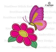 butterfly embroidery design flower machine embroidery design