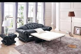 chesterfield pull out sofa tufted leather sleeper sofa luxury button tufted black leather pull