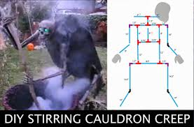 quirky artist loft diy cauldron creep halloween stirring