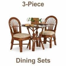 Kitchen Table Sets With Caster Chairs by Glass Top Rattan Dining Sets W Caster Chairs