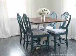 Painted Dining Room Furniture Ideas Captivating Painted Dining Room Chairs Visionexchange Co