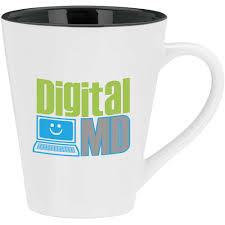 promotional 14 oz designer two tone mugs with custom logo for