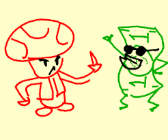 mad toad mario flips 1 bill drawing spoopy