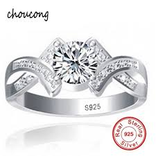 verlobungsringe silber diamant aliexpress gesendet silber zertifikat echt 100 925 sterling