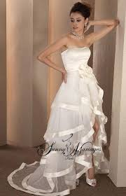 robe de mari e original robe de mariee bustier longue et courte deux en un robe de