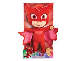 pj masks sing u0026 talk soft toy 35cm owlette entertainer