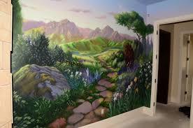custom painted murals by utah mural artist billy hensler kid s playroom