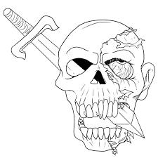 49 dessins de coloriage zombie à imprimer sur laguerche com page 1