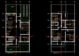 townhouse 2d dwg plan for autocad designscad additional screenshots
