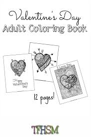 free valentine u0027s coloring book printable frugal