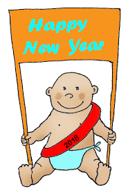 new years baby new years clipart