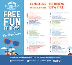 free fun fridays u0027 returns this summer to massachusetts