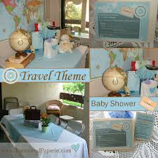 baby shower travel theme baby shower travel