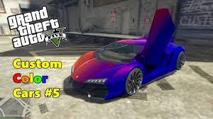 gta v custom color cars 5