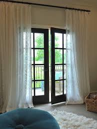 Patio Door Curtain Rod Hanging Door Curtain Rods Rooms Decor And Ideas