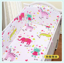 Custom Crib Bedding Sets Promotion 5pcs Animal Customized Crib Bedding Sets Bed Bumper