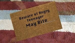 Geek Doormat Beware Of Angry Teenager Custom Doormat By Killer Doormats