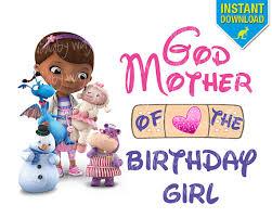 doc mcstuffins birthday doc mcstuffins birthday godmother of the birthday girl