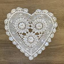 heart shaped doilies rosette heart shaped doilies white 10 inch set of 12 accent linens