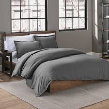 charcoal bedding buy solid grey duvet cover queen from bed bath beyond