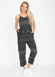 black romper jumpsuit relaxed strappy printed romper jumpsuit likemary