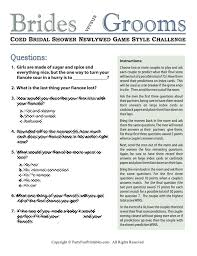 Wedding Shower Games Game Questions For Couples Gamesworld
