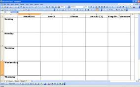 Meal Plan Excel Template Meal Planner Meal Planning Guide