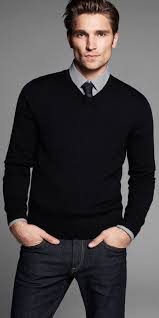 how to wear a black v neck sweater 33 looks s fashion