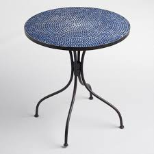 Outdoor Bistro Table Peacoat Blue Cadiz Outdoor Bistro Table World Market