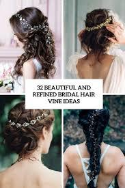 bridal hairstyle ideas 32 beautiful and refined bridal hair vine ideas weddingomania