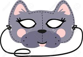 this fun cat mask is perfect for children to make for halloween