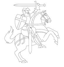 middle ages knights coloring pages sketch coloring