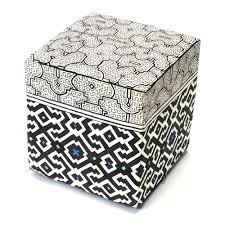 Sole Designs Ottoman by Shipibo Collection Handwork Studio