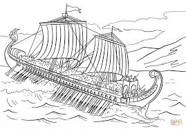 trireme coloring page free printable coloring pages