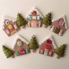 felt gingerbread houses gingerbread