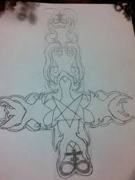 satanic cross tattoo idea by silvermoon2468 on deviantart