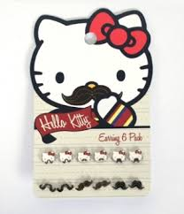 kitty mustache earring pack loungefly official website