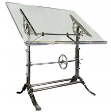 Drafting Table Calgary 1910 Cast Iron Drafting Table With Acrylic Top Urban Archaeology