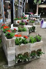 cinder block garden to go with the cinder block benches