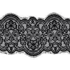 black lace trim floral raschel non stretch lace trim 7 1 4 inch joyce trimming